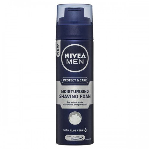 nivea mean protect & care moisturising shaving foam